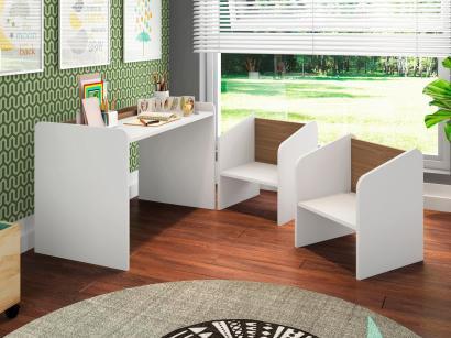 Escrivaninha para Quarto Infantil 2 Cadeiras - Art In Móveis Montessoriano