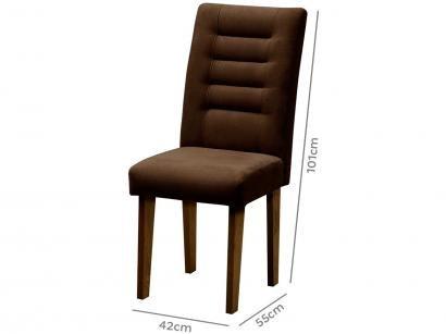 Cadeira para Sala de Jantar Estofada 2 Peças - Dobuê Movelaria Vegas