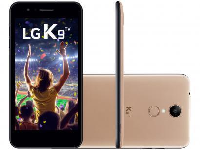"""Smartphone LG K9 TV 16GB Dourado 4G Quad Core - 2GB RAM Tela 5"""" Câm. 8MP + Câm...."""