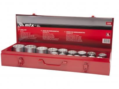 Jogo de Soquetes MTX 135369 19-50mm - 20 Peças