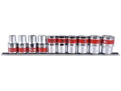 Jogo de Soquetes MTX 135579 10-22mm - 10 Peças