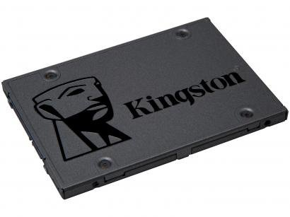 SSD 240GB Kingston Sata Rev. 3.0 - Leituras 500MB/s e Gravações 350MB/s A400