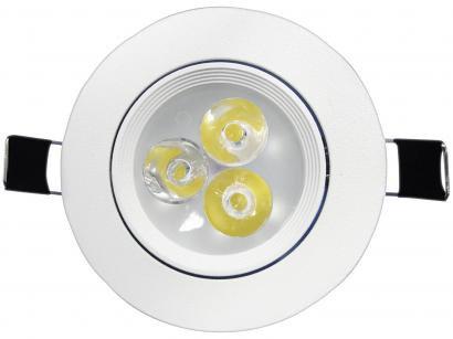 Luminária Spot de LED Redonda Branco - Taschibra SP24