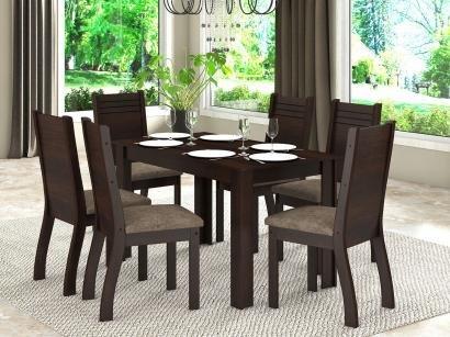 Conjunto de Mesa com 6 Cadeiras Viero Móveis - Friends