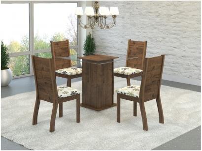 Conjunto de Mesa MDF com 4 Cadeiras - Viero Móveis Napoli Home