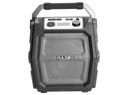 Caixa de Som Bluetooth Pulse Party Speaker - Portátil 150W Ativa USB Preta