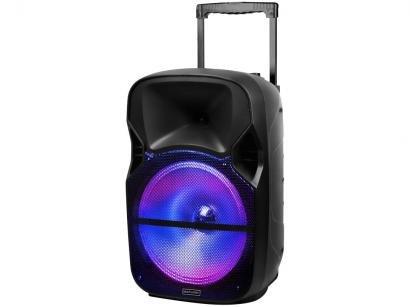 Caixa de Som Bluetooth Multilaser SP259 Portátil - 150W Ativa com Microfone USB Preta