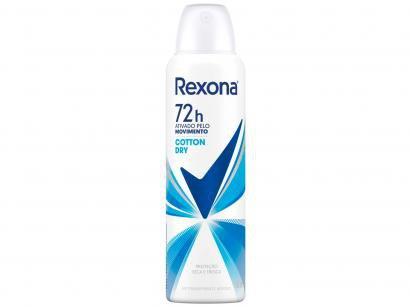 Desodorante Aerosol Antitranspirante Feminino - Rexona Cotton Dry 150ml