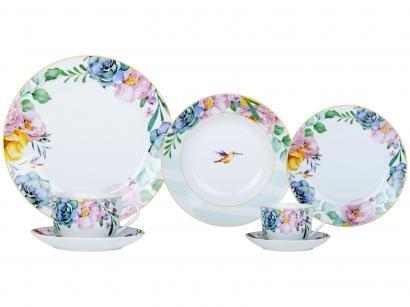 Aparelho de Jantar 42 Peças Casambiente - Redondo Porcelana Lara