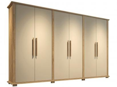 Guarda-roupa Casal MDF 6 Portas 7 Gavetas - Made Marcs Turim