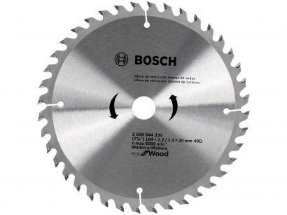 "Disco de Serra Circular 7"" 40 Dentes para Madeira - Bosch Eco For Wood"