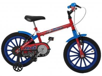 Bicicleta Infantil Aro 16 Track & Bikes Dino - Vermelha com Rodinhas Freio...