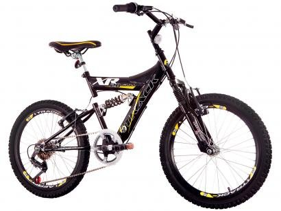 Bicicleta Infantil Aro 20 Track & Bikes XR-20 - 6 Marchas Preta e Amarela...