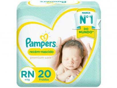 Fralda Pampers Premium Care RN - Até 4kg 20 Unidades