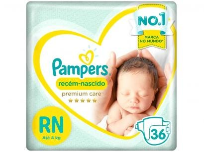 Fralda Pampers Premium Care RN - 36 Unidades