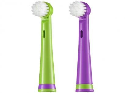 Refil para Escova de Dentes Elétrica Multilaser - Jacaré Funny Brush 2 Unidades