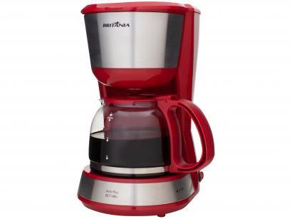 Cafeteira Elétrica Britânia BCF18IV - Vermelha e Cinza 18 Xícaras