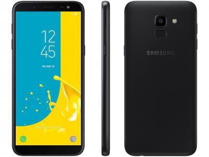Smartphone Samsung Galaxy J6 64GB Preto - Dual Chip 4G Câm. 13MP + Selfie 8MP...