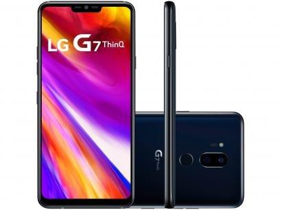 "Smartphone LG G7 ThinQ 64GB Preto 4G Octa Core - 4GB RAM Tela 6,1"" Câm. 16MP e..."