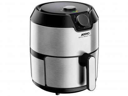 Fritadeira Elétrica Sem Óleo/Air Fryer Arno - Airfry Super BFRY Preta e Inox 4,2L com Timer