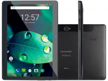"""Tablet Multilaser M10 16GB 10,1"""" 4G Wi-Fi - Android 8.1 Quad Core Câm. 5MP..."""