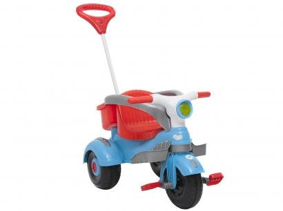 Triciclo Infantil Calesita com Empurrador Classic - Buzina Porta Objetos