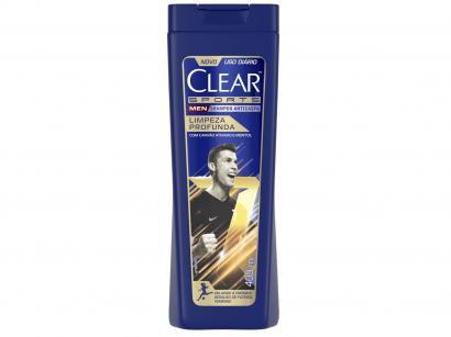 Shampoo Anticaspa Clear Men - Sports Limpeza Profunda 400ml