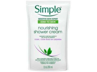 Sabonete Líquido Neutro Simple - Nourishing Shower Cream 200ml