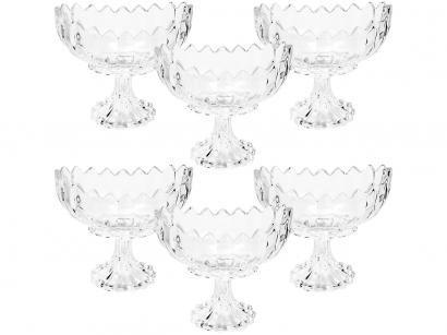 Jogo de Taças para Sobremesa Cristal 6 Peças - 270ml Wolff Geneva
