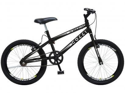 Bicicleta Infantil Aro 20 Colli Bike Max Boy - Preta Fosco Freio V-break