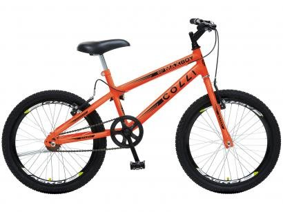 Bicicleta Infantil Aro 20 Colli Bike Max Boy - Laranja Neon Freio V-break