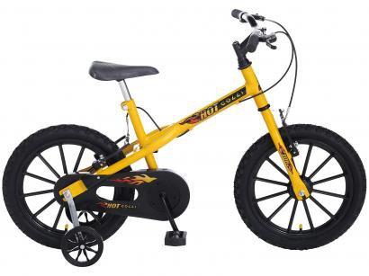 4bb3b1152 Bicicleta Infantil Aro 16 Colli Bike Hot Colli - Amarela com Rodinhas Freio  V-Brake ...