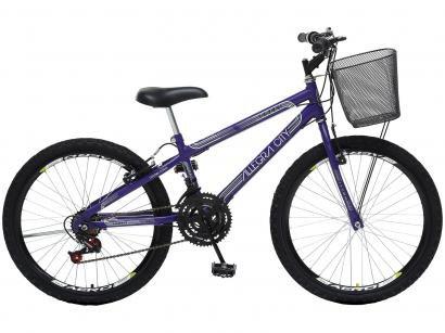 Bicicleta Infantil Aro 24 Colli Bike Allegra City - 21 Marchas Violeta com...