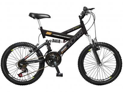 b600934ef Bicicleta Infantil Aro 20 Colli Bike GPS - 21 Marchas Preta Freio V-Brake  ...