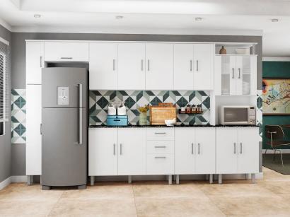 Cozinha Completa Poliman Suiça com Balcão - Nicho para Forno ou Microondas 17...