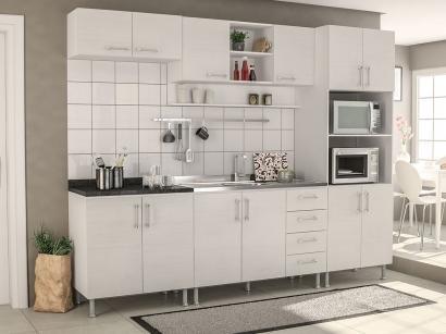 Cozinha Completa Politorno Floripa com Balcão - Nicho para Forno ou Micro-ondas...