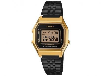 Relógio Unissex Casio Digital Vintage - LA680WEGB-1ADF Preto