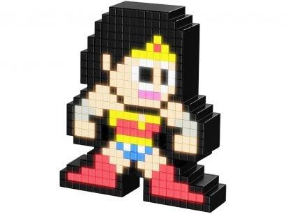 Mini Luminária de Mesa PDP Pixel Pals - Wonder Woman