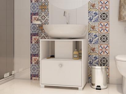 Gabinete para Banheiro 1 Porta - Revestido em BP BRV Móveis Versa BBN 02
