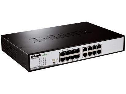 Switch 16 Portas 32Gbps Gigabit Ethernet DGS-1016D - D-Link