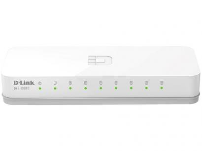 Switch 8 Portas 1,6Gbps Fast-Ethernet DES-1008C - D-Link