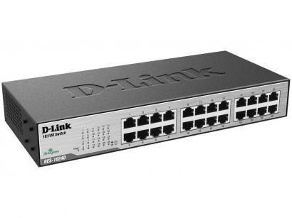 Switch 24 Portas 10/100Mbps Fast-Ethernet - DES-1024D D-Link