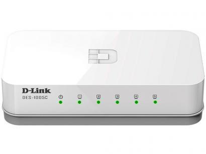 Switch 5 Portas 10/100Mbps Fast-Ethernet - DES-1005C D-Link