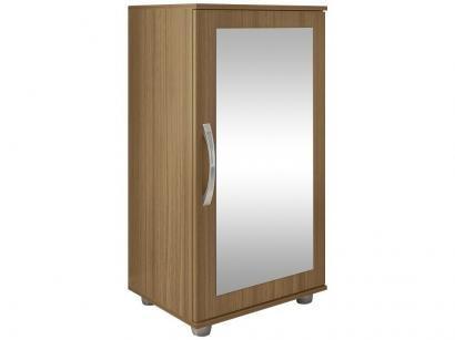 Sapateira com Espelho 1 Porta 4 Prateleiras - Poliman Móveis Flávia