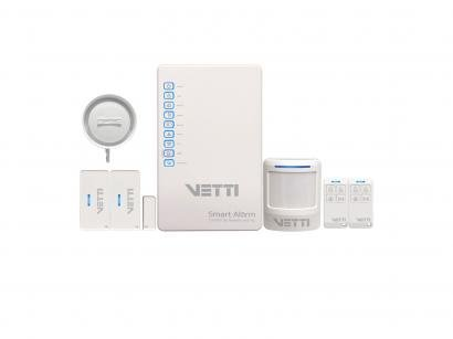 Kit Alarme Residencial/Comercial Vetti - com Discador de Linha Fixa Smart 3 Sensores