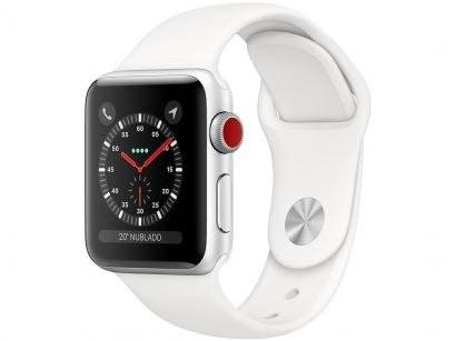 Apple Watch Series 3 38mm Cellular GPS Integrado - Wi-Fi Bluetooth Pulseira...