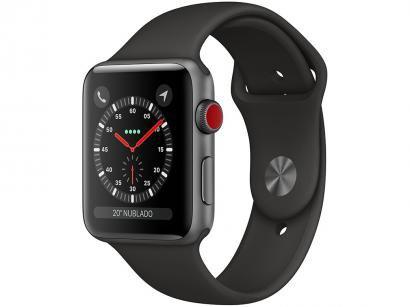 Apple Watch Series 3 42mm Cellular GPS Integrado - Wi-Fi Bluetooth Pulseira...
