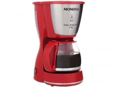 Cafeteira Elétrica Mondial Dolce Arome Vermelha - 18 Xícaras