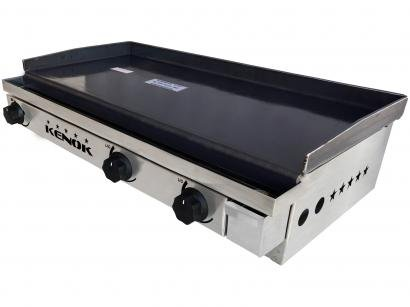 Chapa para Lanches a Gás Kenok CHAP-003 - 80x40cm