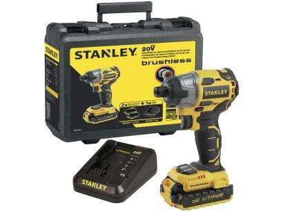 """Parafusadeira Stanley a Bateria 20V 1/4"""" - Velocidade Variável e Reversível com..."""
